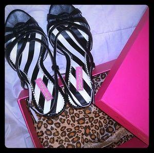 "Betsey Johnson 3 1/2"" Summer Strappy Heels"